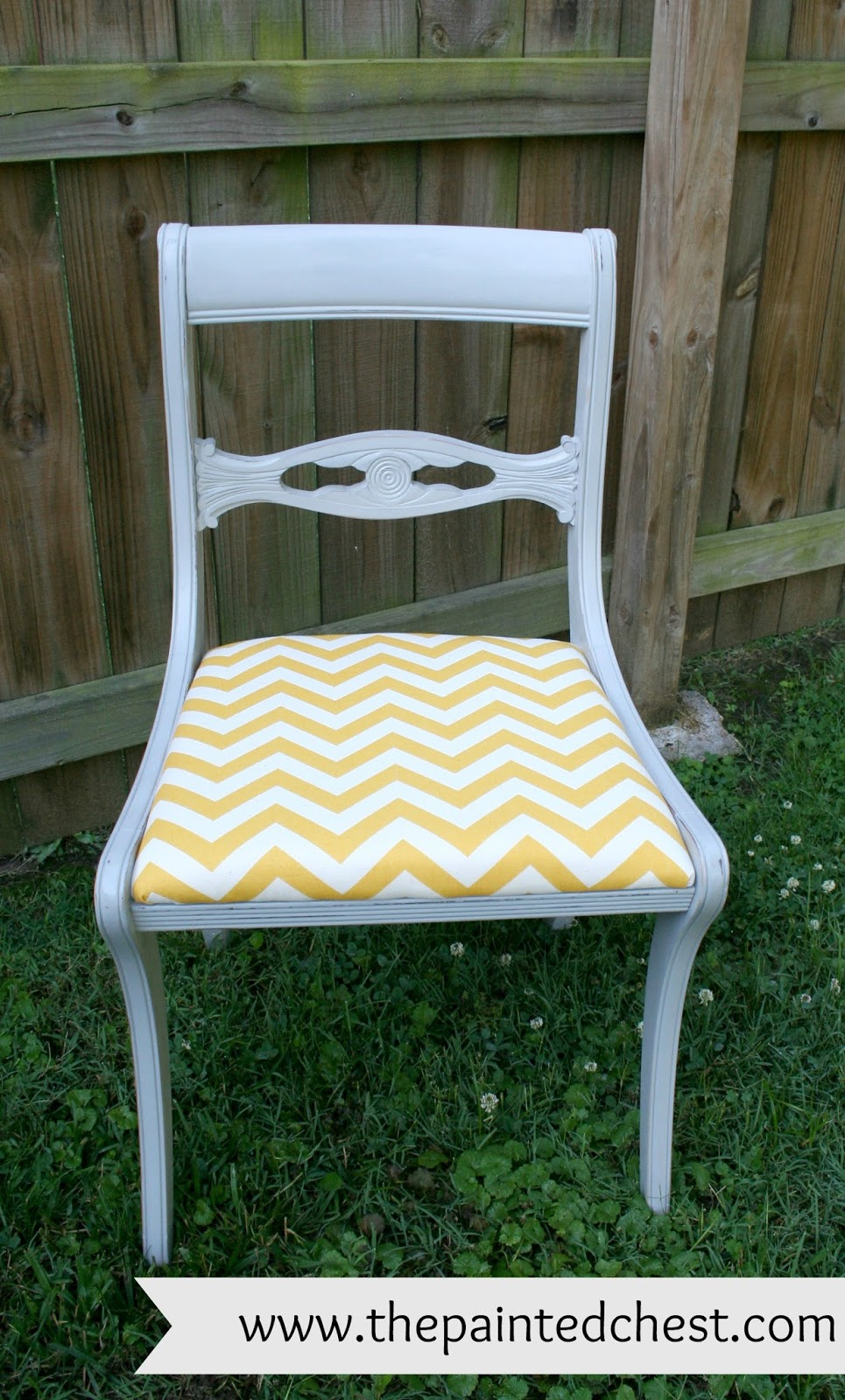 The Painted Chest Duncan Phyfe Chair Makeover