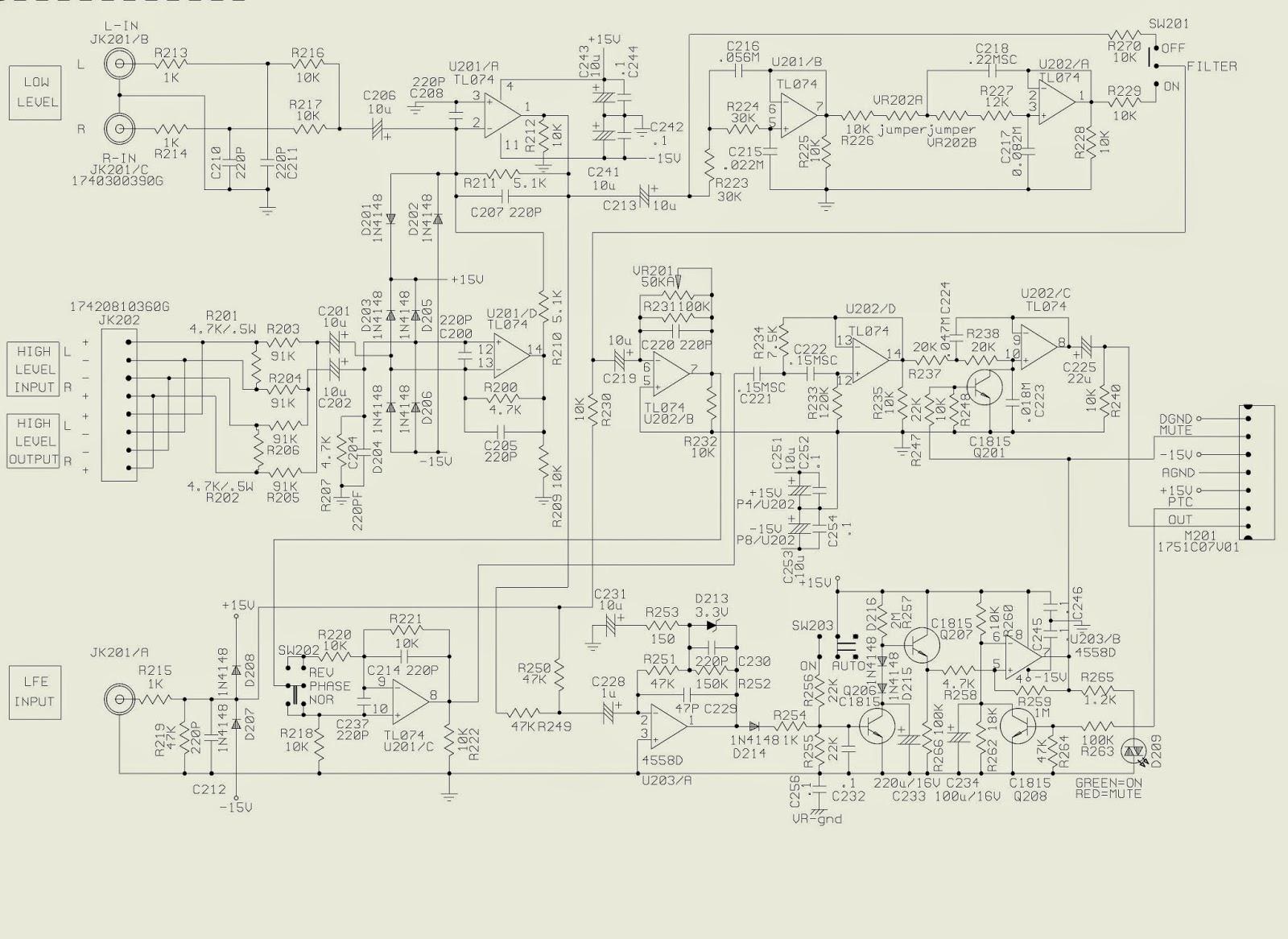 ELECTRONIC EQUIPMENT REPAIR CENTRE : HARMAN KARDON SUB-TS7 SUB-TS8 ...