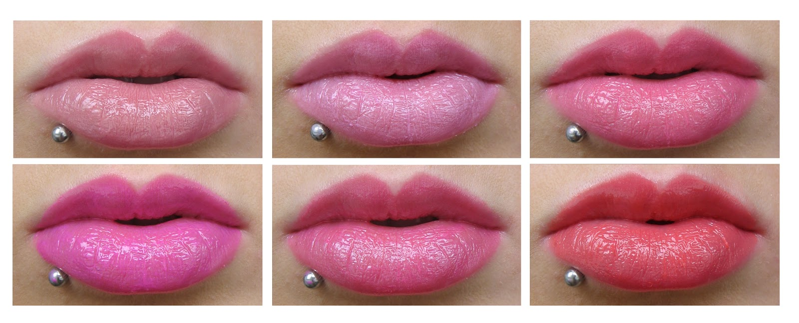 MUA Out There Plumping Lip Gloss Swatches