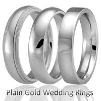 plain Gold Wedding rings