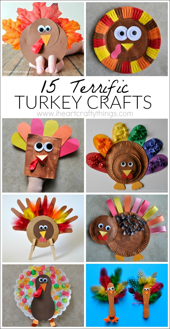 15 terrific turkey crafts for kids i heart crafty things for Thanksgiving turkey arts and crafts