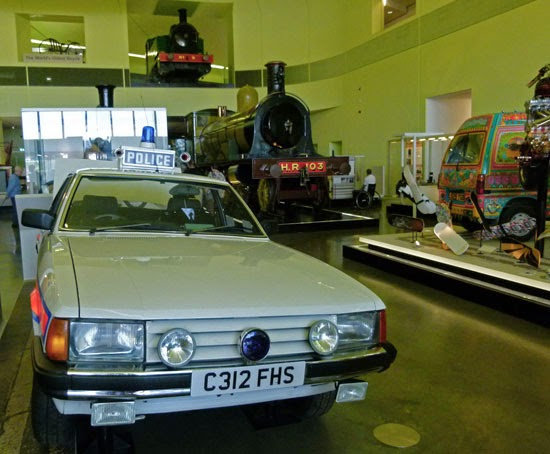 Strathclyde Police Car, Highland Railway locomotive, Pakistani truck art, Glasgow, Scottish Transport