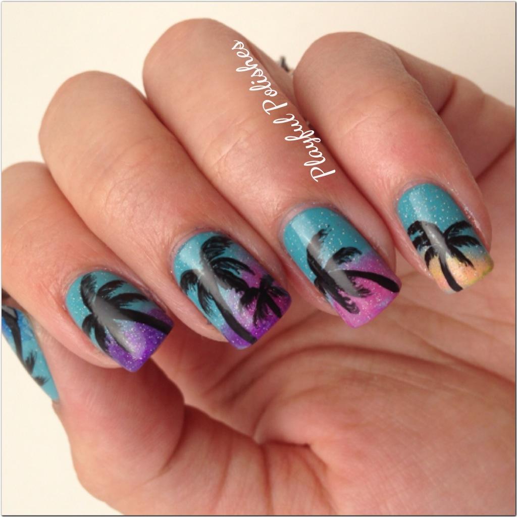 Playful Polishes June Nail Art Challenge Ocean Nails: Playful Polishes: JUNE NAIL ART CHALLENGE: SUMMER NAILS