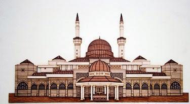 bina model bangunan bersejarah