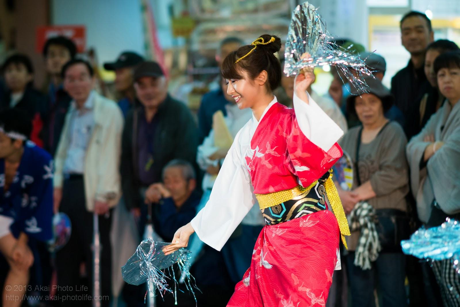 かわさき阿波おどり、川崎きさわか連の女性による扇子踊り