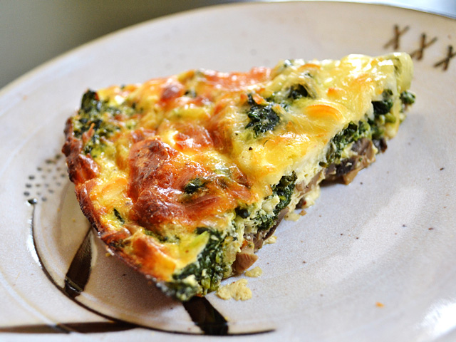 Kneady Business: Spinach, Mushroom & Cottage Cheese Quiche
