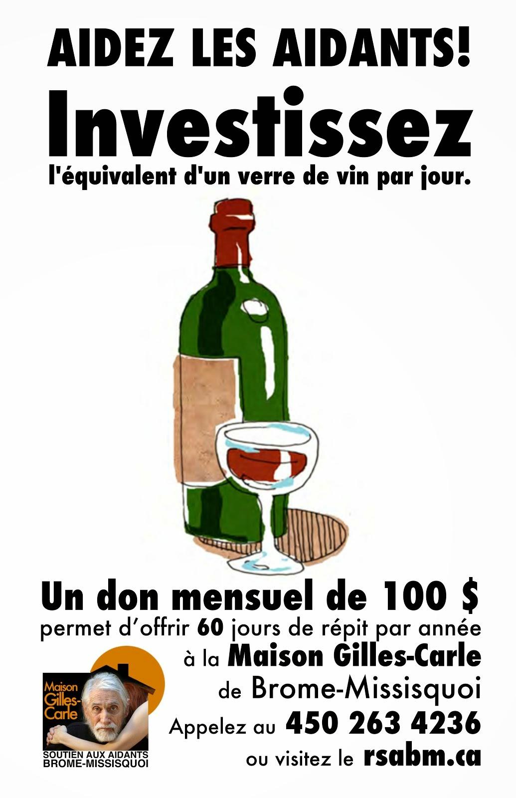 Investissez l&#39;équivalent <br>d&#39;un verre de vin par jour