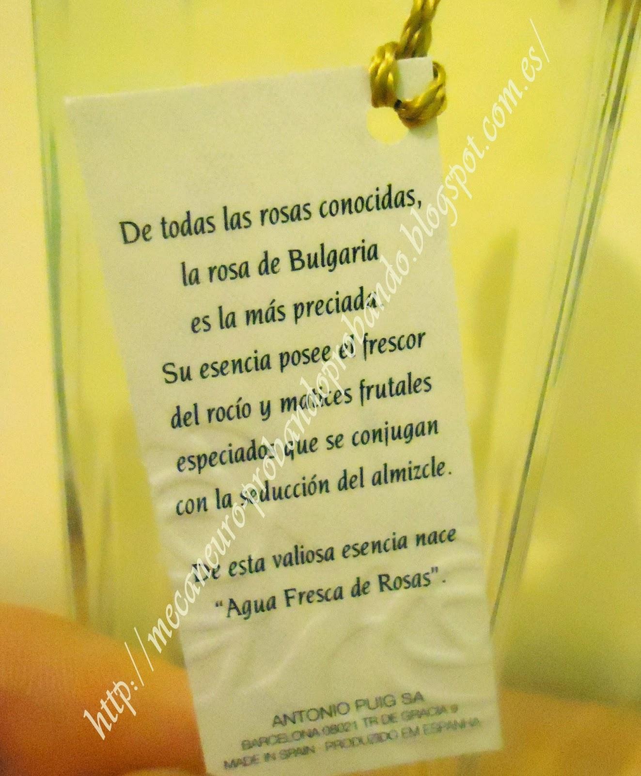 Agua Fresca de Rosas, Adolfo Dominguez
