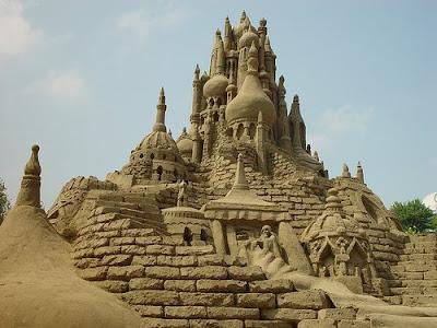 Castle Sand Art