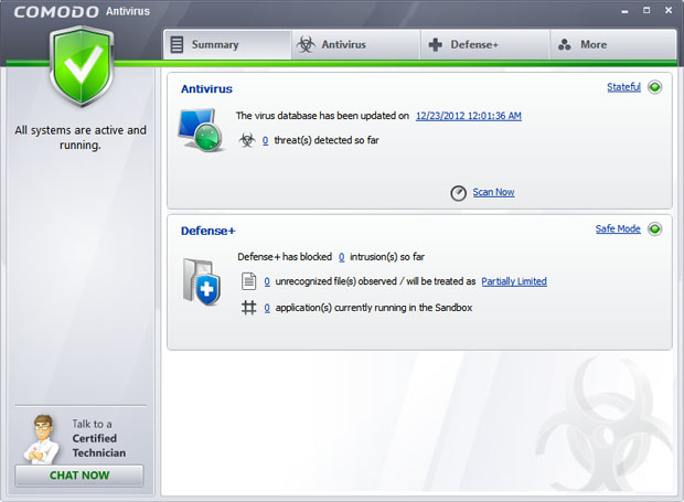 COMODO Antivirus 2012 Screenshot 1
