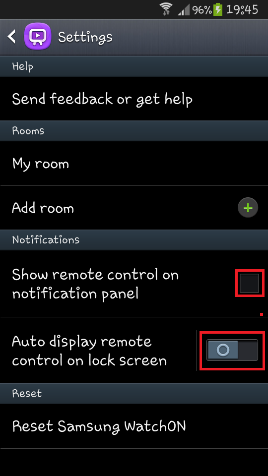 remove watchon notification and widget