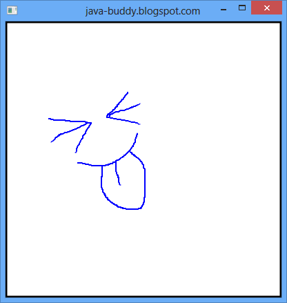 Free draw on JavaFX Canvas