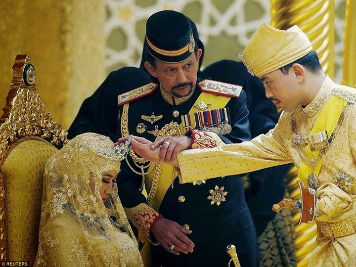 زفاف أسطوري من الذهب والألماس للابن الأصغر لسلطان بروناي