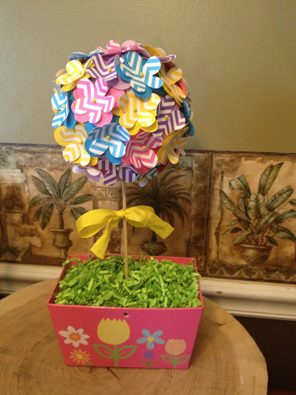 Shop craft bake spring garden topiary made of paper mache and spring garden topiary made of paper mache and paper flowers mightylinksfo