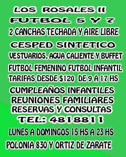 LOS ROSALES II FÚTBOL 5 Y 7  CESPED SINTÉTICO