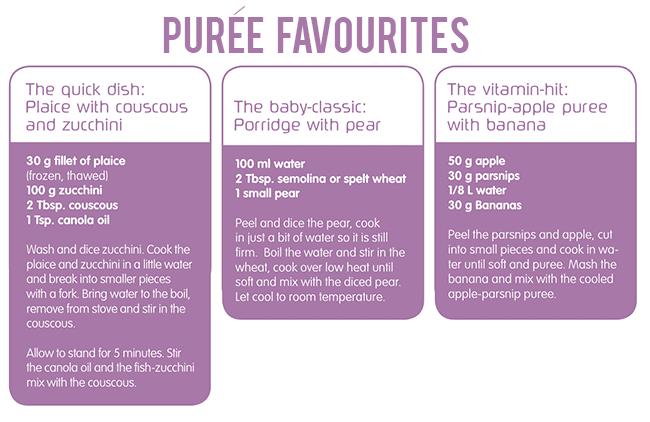 Puree favourites