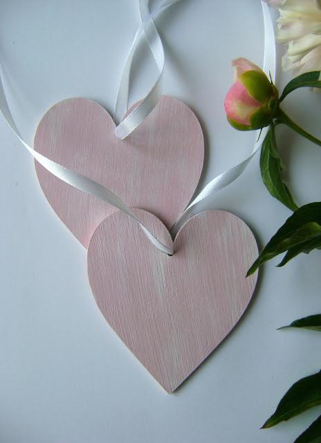 serce decoupage różowy penie peonies