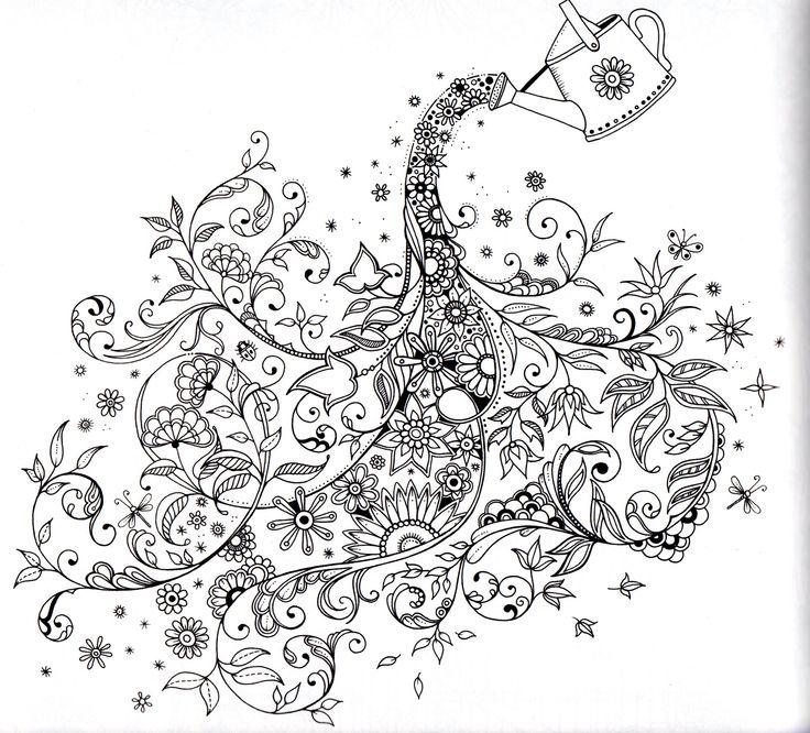 Desenhos do livro jardim secreto para colorir - Secret garden coloring book for adults pdf ...