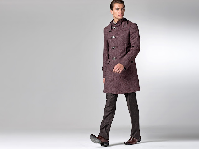 Indochino Mack Red Melange Toggle Coat