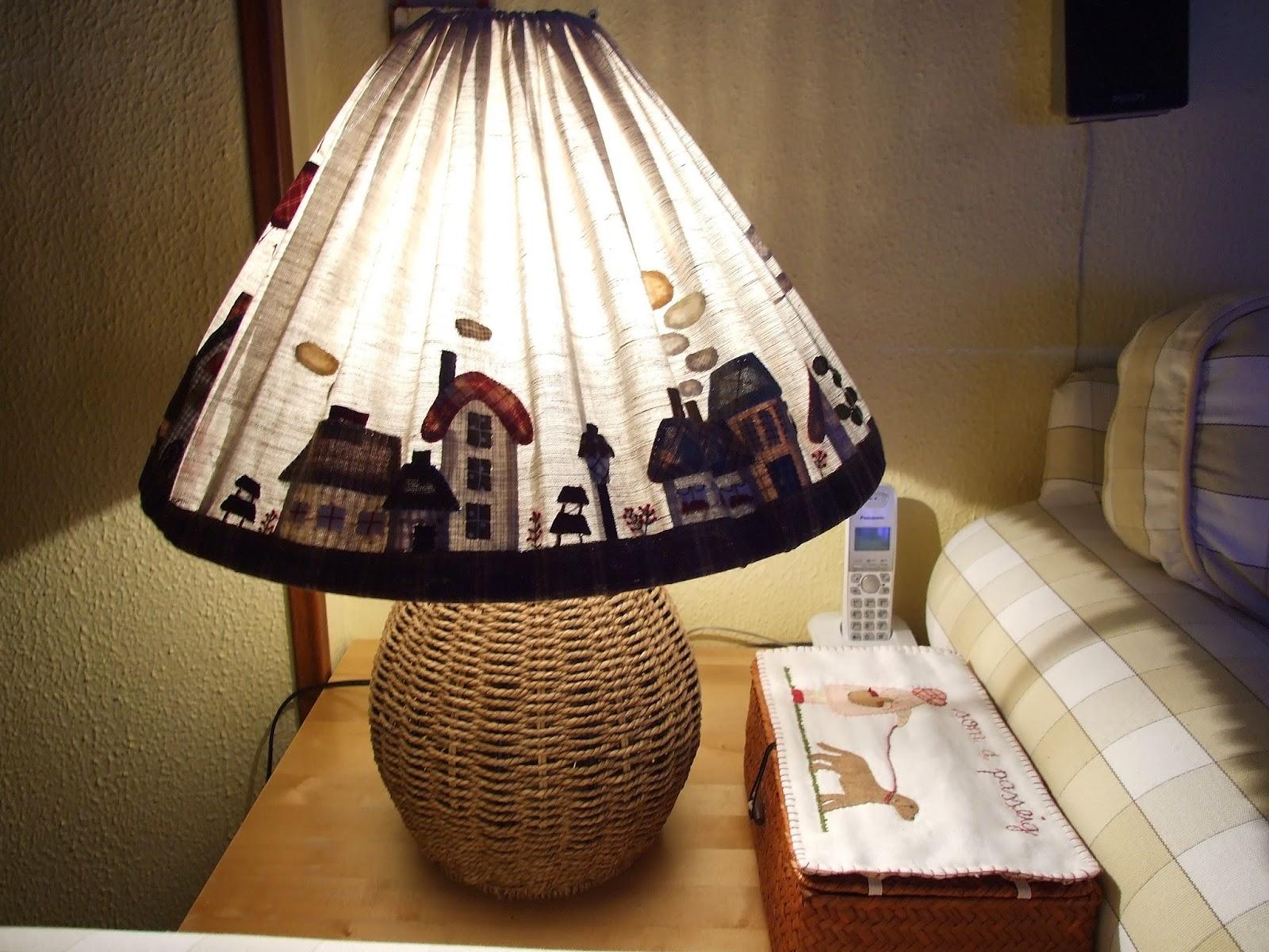 Mi peque o mundo patchwork pantalla lampara de toshiko matsou - Pantallas de lamparas ...