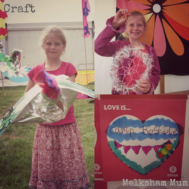 Crafting at Camp Bestival 2013