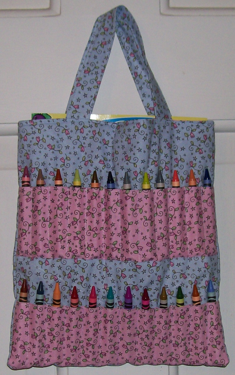 Large Crayon Tote Bag