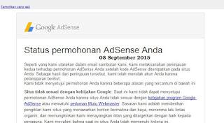Ditolak Google Adsense