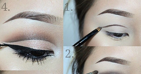 Eye makeup techniques in cutcrease