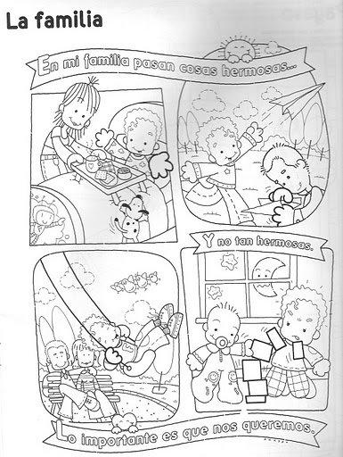 Imagenes De La Familia Para Colorear