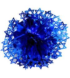 Decoración Maguen papel azul (esférico para colgar)27 ctms.