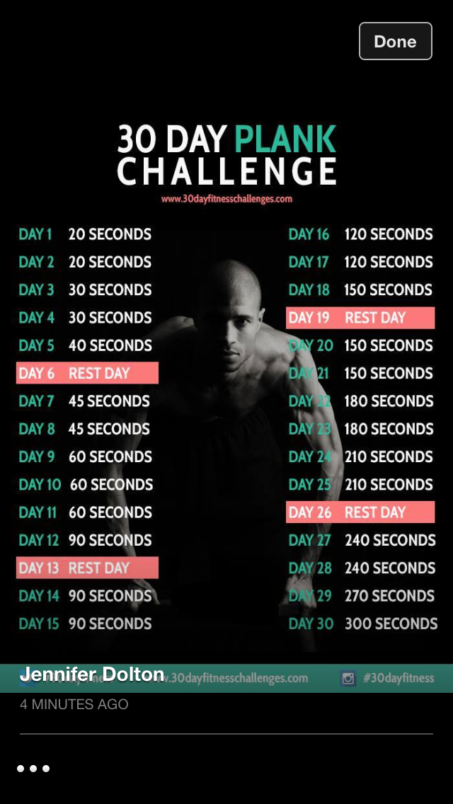 1000 images about 30 day challenges on pinterest push for Plank workout results