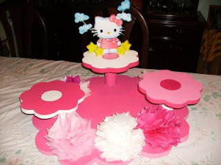 Children parties, Hello Kitty centerpieces decorations