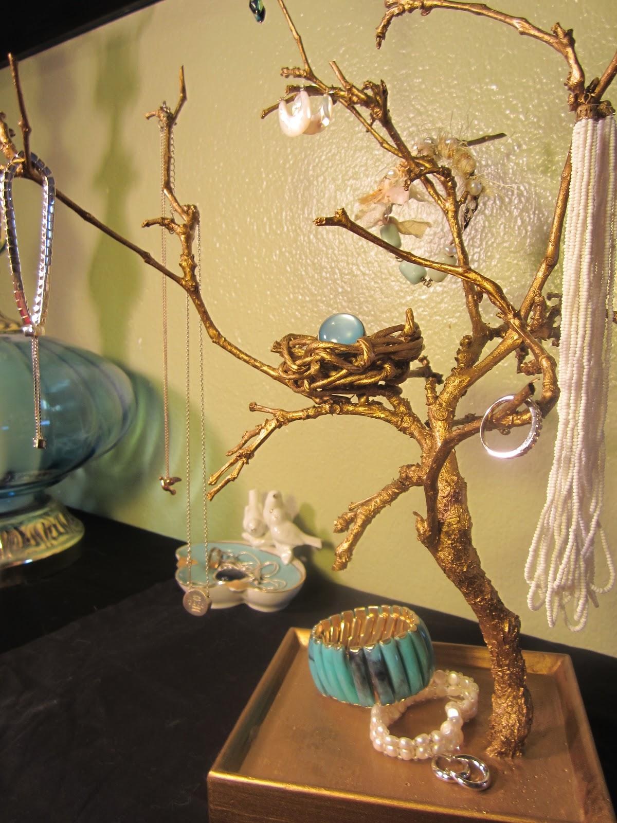 Shades Of Tangerine: Jewelry Tree (DIY