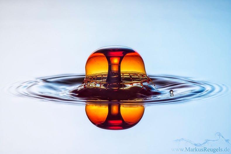 Markus Reugels  fotografía de alta velocidad de la gota de agua