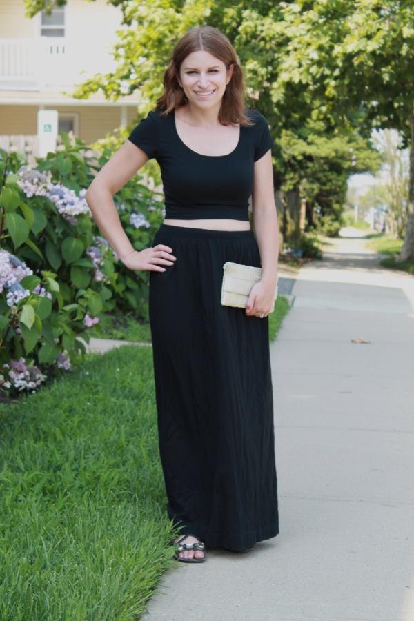 black long skirt with top redskirtz