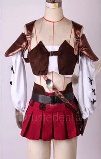 Final Fantasy XIV 14 Miqote Cosplay Costume