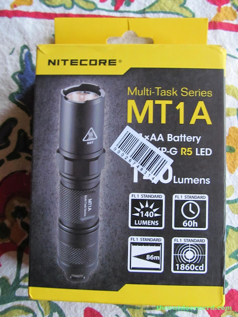 Nitecore MT1A AA Flashlight: In Box: Front