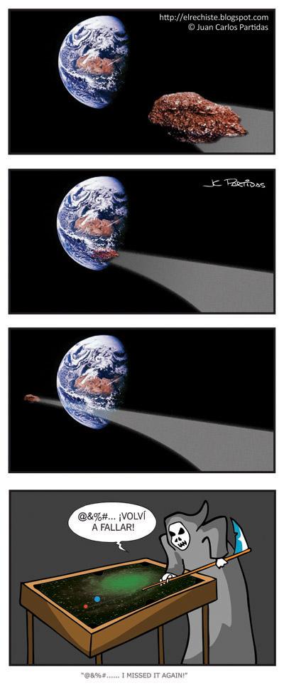 chiste de Asteroide vs La Tierra
