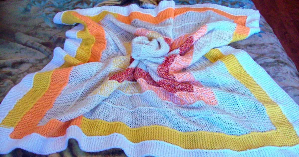Вязание плед на 10 петлях 66