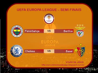 UEFA Europa League Semi Finais mata-mata decisões campeonato