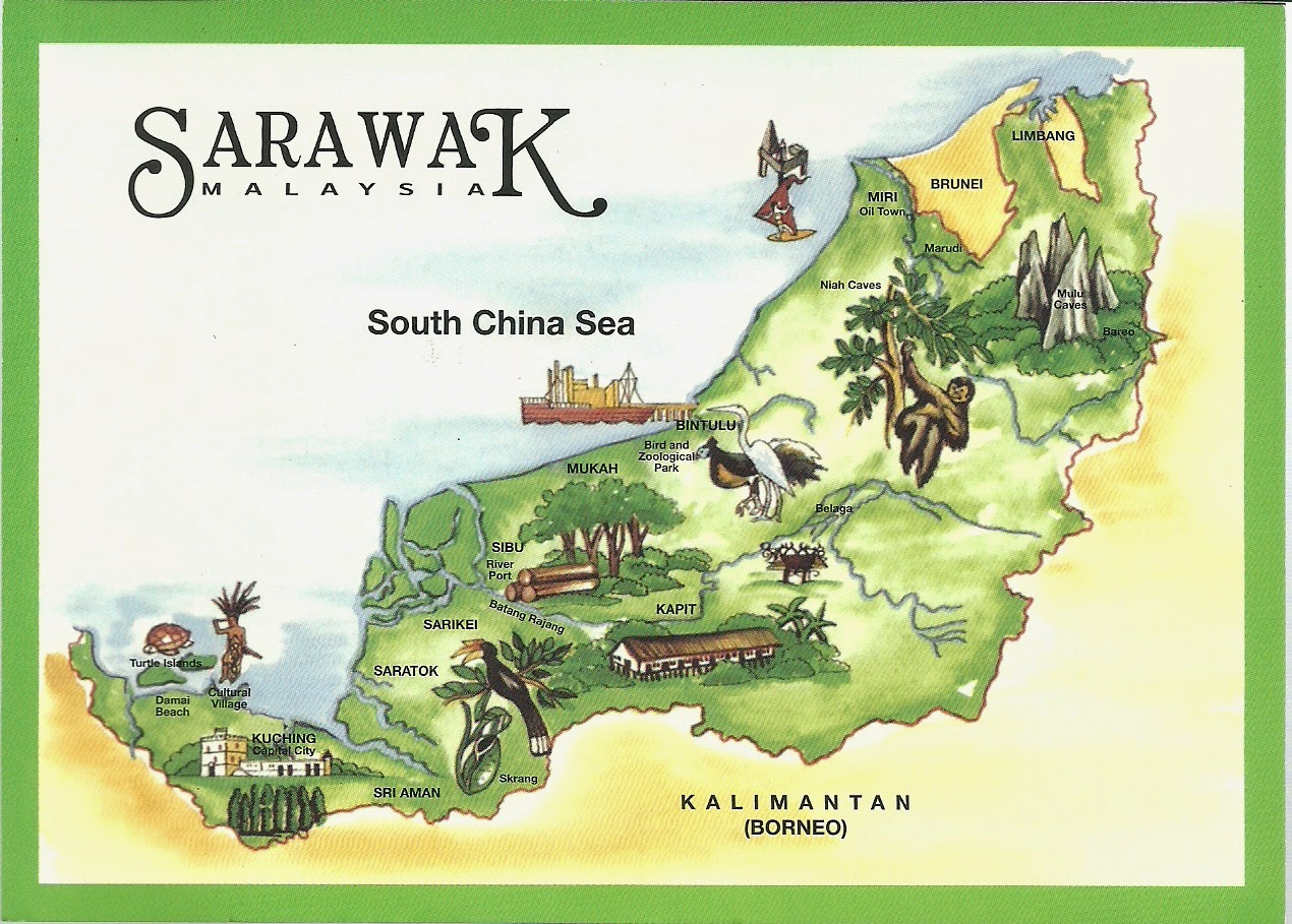 Interesting Corner of Me Wordless Wednesday Sarawak Map Fruits