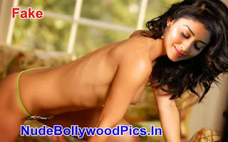 shriya+saran+nude+(8) Shriya Saran in Green Bra & Panty Possing her Boobs & Pussy Fake