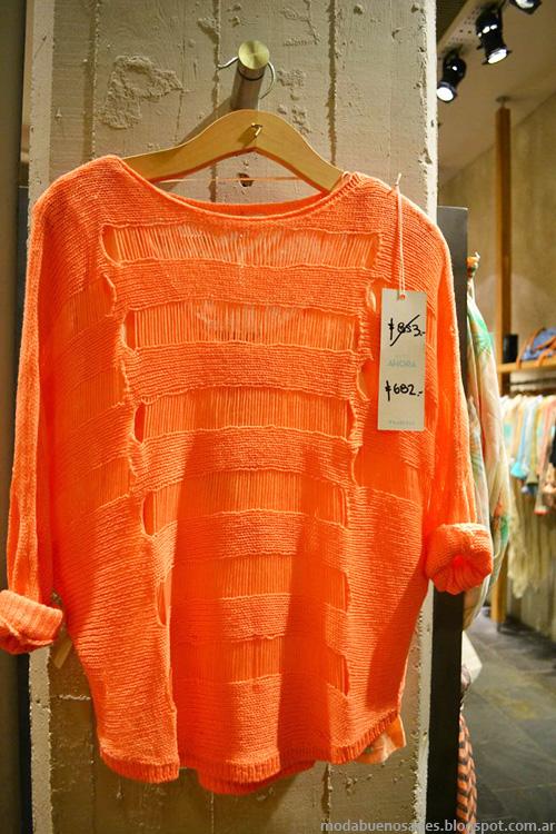 Sweaters de hilo verano 2014 Tucci moda 2014.