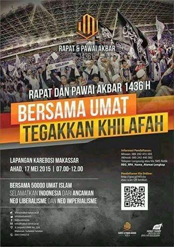 RPA MAKASSAR  | Ikhwan : 085242472593 | RPA MAKASAR | Akhwat : 085242440582 | RAPAT DAN PAWAI AKBAR |HTI Sulselbar  | 17 MEI 2015 | pukul 07.00 - 11.00 wita| di Lapangan Karebosi Makassar.
