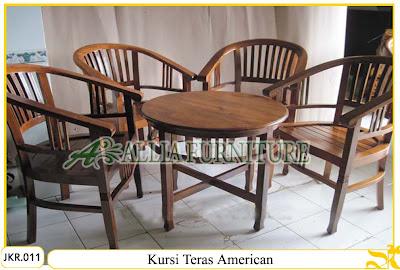 Kursi Teras Rumah & Meja Ukiran American kayu jati
