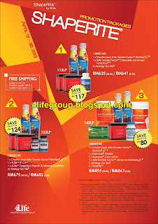 'Shaperite Promotion Packages 13 - 30 April 2013