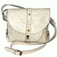 white leopard print protos handbag leather
