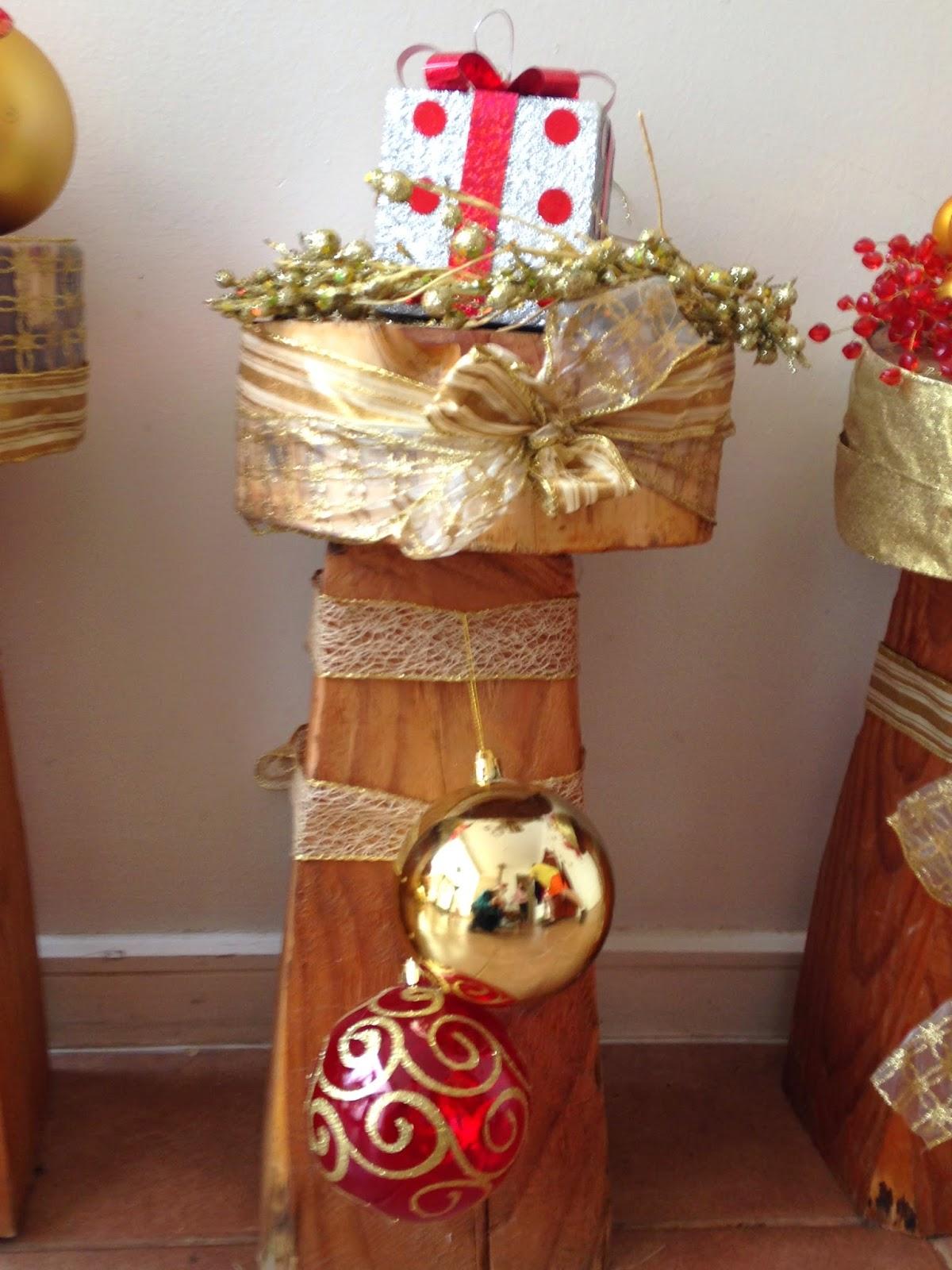 Diy decorando troncos navide os decorar tu casa es - Decorar mi casa en navidad ...