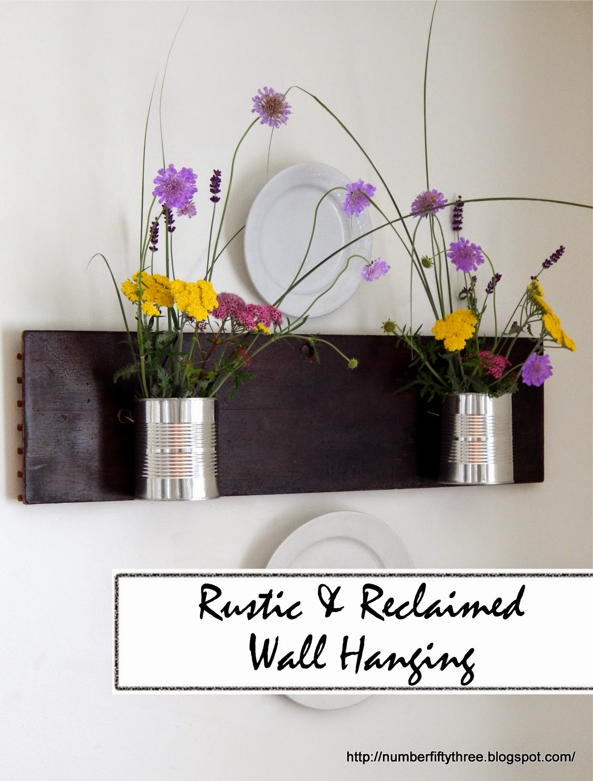 Make an easy reclaomed wood wall hanging