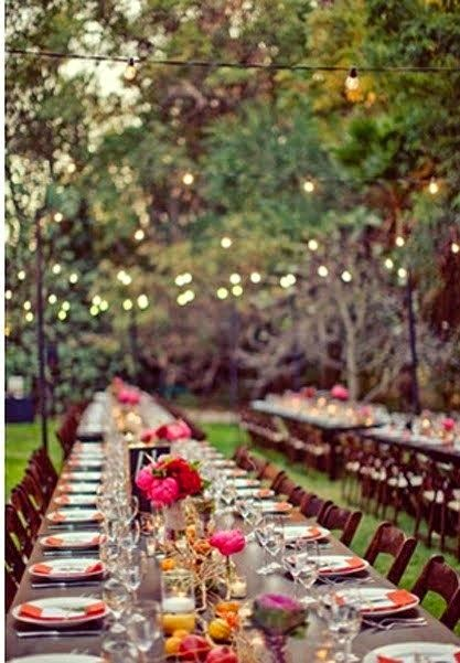 Rustic Backyard Wedding Reception Ideas : Photocalles Decoraci?n para bodas en el campo